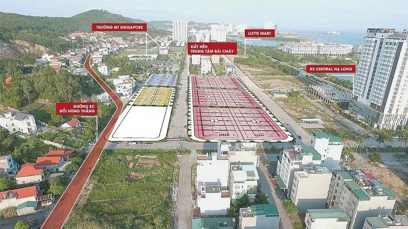 Dự án đất nền trung tâm Bãi Cháy được hưởng lợi rất lớn từ vị trí trung tâm.