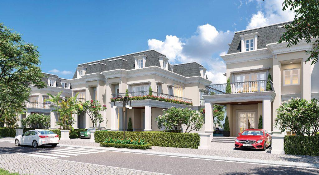 Xanh Villas - Phối cảnh biệt thự thiết kế theo phong cách Tân cổ điển