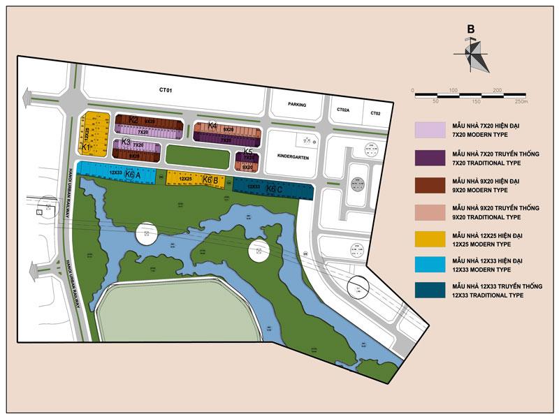 Bản đồ khu K Grand Gardenville khu đô thị Ciputra Hà Nội