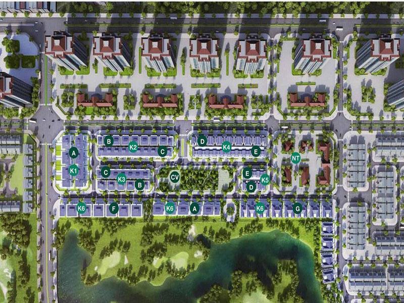 Vị trí khu K1 Grand Gardenville khu đô thị Ciputra Hà Nội