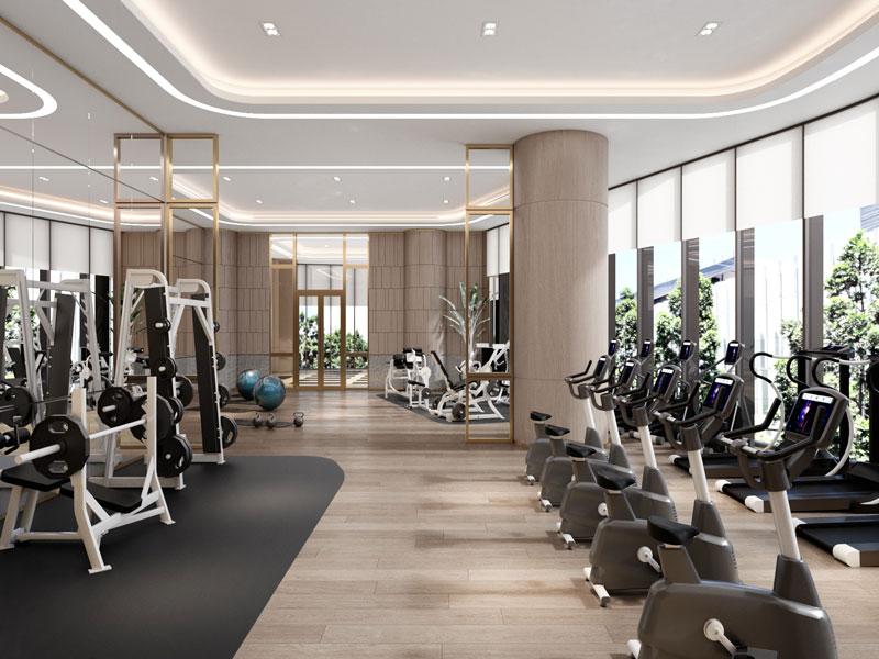 Dự án Alacarte Halong Bay - Phòng Gym với trang thiết bị hiện đại