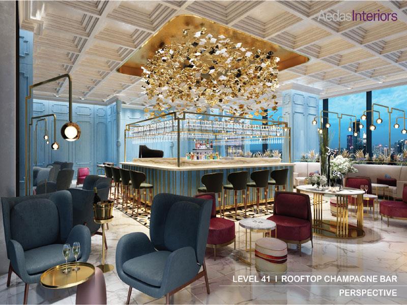 Dự án Alacarte Hạ Long Bay - Tiện ích Rooftop Champagne Bar