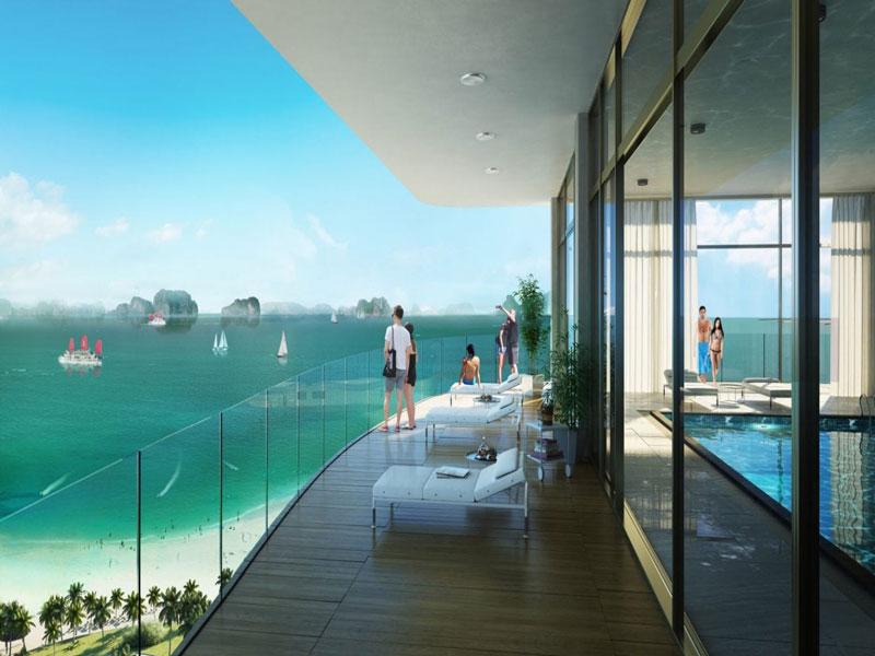 Alacarte Halong Bay - Thiết kế ban công hướng biển cực thoáng rộng