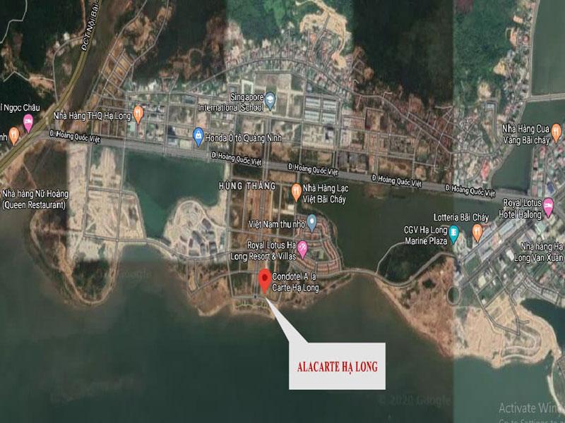 Dự án Alacarte Hạ Long - Vị trí đắc địa 3 mặt giáp biển