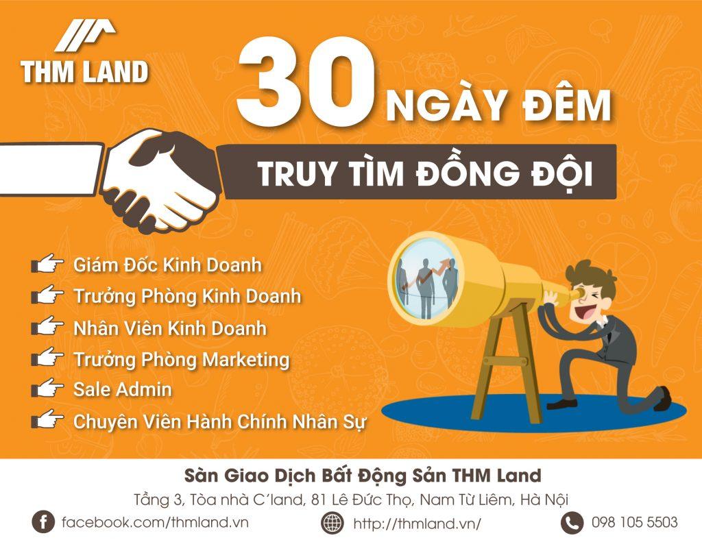 THM Land - Tuyển dụng nhiều vị trí hấp dẫn