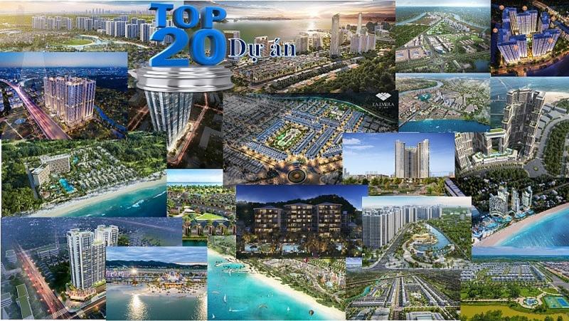 Top 20 Dự án bất động sản nổi bật năm 2021
