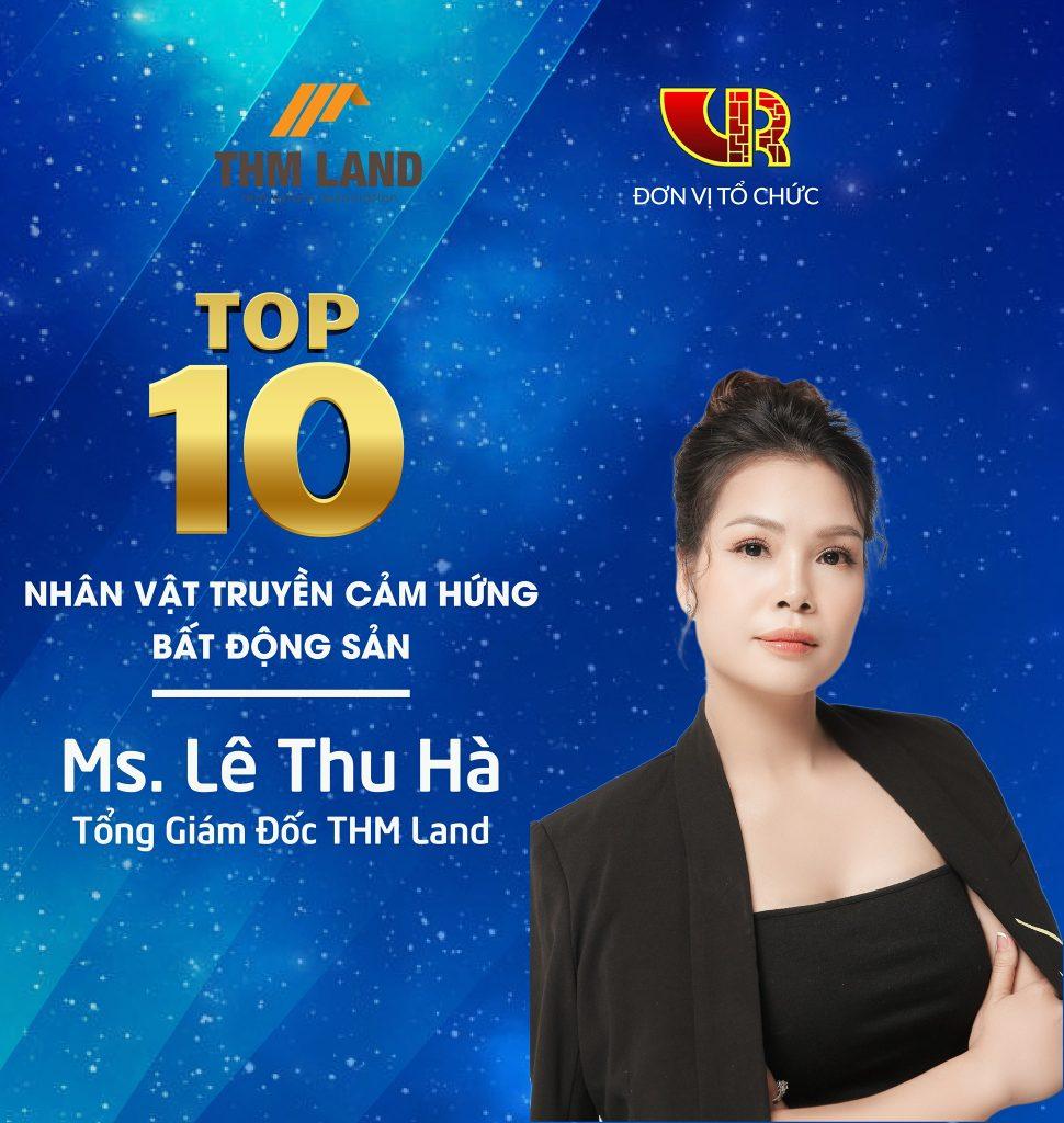 """Tổng Giám đốc THM Land Lê Thu Hà lọt """"TOP 10 Nhân vật truyền cảm hứng bất động sản"""""""