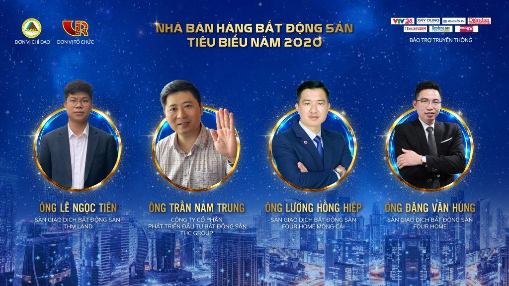 """Anh Lê Ngọc Tiên (Giám đốc THM Land chi nhánh Hạ Long) đã đoạt giải """"Nhà bán hàng bất động sản tiêu biểu năm 2020"""""""