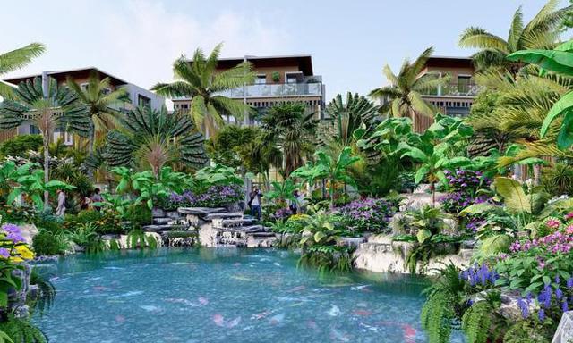 Không gian xanh mát chuẩn phong cách nghỉ dưỡng, thích hợp để làm second home của Horizon Bay
